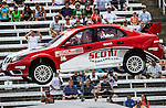 Andy Scott (26) driver of the Scott-Eclund car, in action during the Global Rally Cross race, the Hoon Kaboom, at Texas Motor Speedway in Fort Worth,Texas. Global Rally Cross driver Marcos Gronholm (3) wins the Hoon Kaboom race..