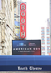 Theatre Marquee unveiling for Kerry Washington and  Steven Pasquale starring in 'American Son', written by Christopher Demos-Brown and directed by Kenny Leon at the Booth Theatre on August 24, 2018 in New York City.
