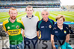 John Foley Listry Willie and Mary O'Shea Miltown Kerry  fans at the All Ireland Senior Quarter Final at Croke Park on Sunday.