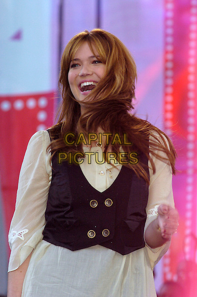 MANDY MOORE.Entertainment Industry Foundation's 10th Anniversary Revlon Run/Walk for Women in Times Square, New York City, New York, USA, .5 May 2007 .half length  black waistcoat cream tunic blouse shirt.CAP/ADM/BL.©Bill Lyons/AdMedia/Capital Pictures. *** Local Caption ***