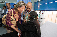 Queen Mathilde of Belgium in Al Zaatari refugee Camp - Jordan
