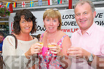 Listowel Tidy Towns BBQ:Attending the fund raising BBQ for Listowel Tidy Towns committee at Stack's Off Licence on Saturday evening last were Gemma Hannon & Rose & Tom Wall.