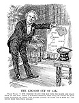 "The Kindest Cut of All. Welsh Wizard. ""I now proceed to cut this map into two parts and place them in the hat. after a suitable interval they will be found to have come together of their own accord - (aside) - at least let's hope so; I've never done this trick before."""
