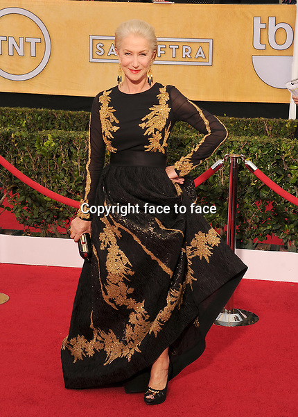 LOS ANGELES, CA- JANUARY 18: Actress Helen Mirren arrives at the 20th Annual Screen Actors Guild Awards at The Shrine Auditorium on January 18, 2014 in Los Angeles, California.<br /> Credit: Mayer/face to face<br /> - No Rights for USA, Canada and France -