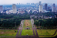 Indonesia, Java, Jakarta. View from MONAS, a lift runs to te top of the monument. View from MONAS, a lift runs to te top of the monument.