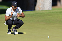 Julian Suri (USA) on the 10th green during Thursday's Round 1 of the 2018 Turkish Airlines Open hosted by Regnum Carya Golf &amp; Spa Resort, Antalya, Turkey. 1st November 2018.<br /> Picture: Eoin Clarke | Golffile<br /> <br /> <br /> All photos usage must carry mandatory copyright credit (&copy; Golffile | Eoin Clarke)