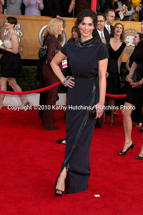 Michelle Forbes.arriving at the 2010 Screen Actor's Guild Awards.Shrine Auditorium.Los Angeles, CA.January 23, 2010.©2010 Kathy Hutchins / Hutchins Photo....