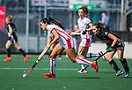AMSTELVEEN - Maria Jimena Cedres Lobbosco (OR)  tijdens de hoofdklasse competitiewedstrijd hockey dames,  Amsterdam-Oranje Rood (5-2). COPYRIGHT KOEN SUYK