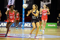 30.08.2017 Silver Ferns Kayla Cullen in action during the Quad Series netball match between the Silver Ferns and England at the Trusts Arena in Auckland. Mandatory Photo Credit ©Michael Bradley.