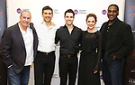 """Gabriel Barre, Tony Yazbeck, Corey Cott, Laura Osnes and Norm Lewis attend the Meet the Cast of The MCP Production of """"The Scarlet Pimpernel"""" at Pearl Rehearsal studio Theatre on February 14, 2019 in New York City."""
