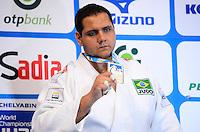 RIO DE JANEIRO, RJ,31 DE AGOSTO DE 2013 -CAMPEONATO MUNDIAL DE JUDÔ RIO 2013- O brasileiro Rafael Silva conquistou a medalha de prata na categoria +100kg no Mundial de Judô Rio 2013, no Maracanazinho de 26 de agosto a 01 de setembro, zona norte do Rio de Janeiro.FOTO:MARCELO FONSECA/BRAZIL PHOTO PRESS