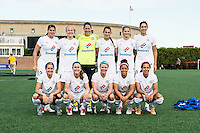 Allston, MA - Sunday, May 22, 2016: Kansas City FC starting eleven during a regular season National Women's Soccer League (NWSL) match at Jordan Field.