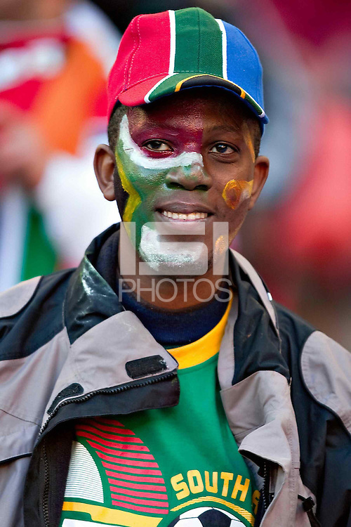 A fan in the stands before the Portugal v Ivory Coast game