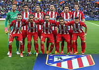 Atletico Madrid Pre Match Team Photo during the UEFA Champions League QF 2nd Leg match between Leicester City and Atletico Madrid at the King Power Stadium, Leicester, England on 18 April 2017. Photo by PRiME Media Images.