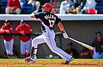 4 March 2009: Washington Nationals' catcher Javier Valentin in action during a Spring Training game against the New York Mets at Space Coast Stadium in Viera, Florida. The Nationals rallied to defeat the Mets 6-4 . Mandatory Photo Credit: Ed Wolfstein Photo