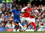 Chelsea's N'Golo Kante tussles with Arsenal's Aaron Ramsey during the premier league match at Stamford Bridge Stadium, London. Picture date 17th September 2017. Picture credit should read: David Klein/Sportimage
