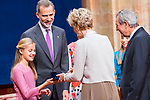Princess of Asturias Leonor gives medal of Princess of Asturias Awards to Siri Hustvedt in Oviedo. October 18, 2019 (Alterphotos/ Francis Gonzalez)