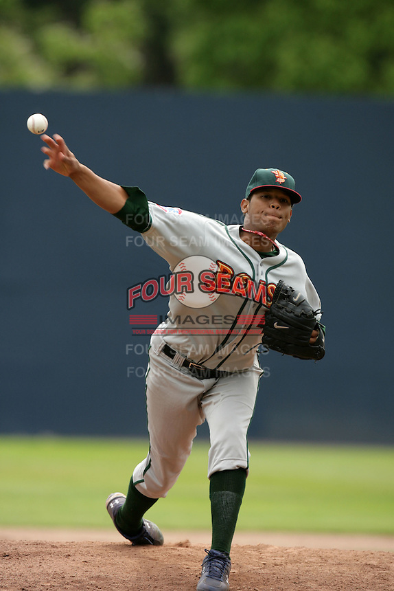 July 11 2009: Yohan Gonzalez of the Boise Hawks during game against the Vancouver Canadians at Nat Bailey Stadium in Vancouver,BC..Photo by Larry Goren/Four Seam Images