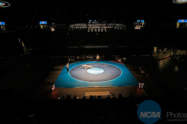 12 MAR 2016: The Division III Men's Wrestling Championship is held at the U.S. Cellular Center in Cedar Rapids, IA. Wartburg won the championship with 129.5 points. Adam Wesley/NCAA Photos