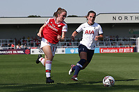 Lisa Evans of Arsenal and Siri Worm of Tottenham during Arsenal Women vs Tottenham Hotspur Women, Friendly Match Football at Meadow Park on 25th August 2019