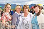 Eileen Dineen Kilgarvan, Breda Healy Killarney, Rita Healy Ballyvourney and Pamela Baker Kenmare looking for winners at the Killarney Races on Tuesday