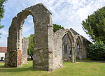 Ruins of church of Saint Mary, Wilton, Wiltshire, England, UK