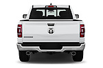 Straight rear view of 2019 Ram Ram-1500-Pickup Big-Horn-Crew-Cab-SWB 4 Door Pickup Rear View  stock images