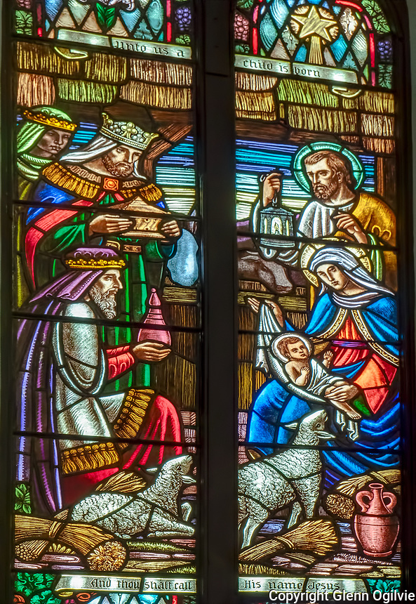 The Belton Window at St. Andrew's Presbyterian Church. Dedicated to Grace Doherty Nov. 21 1965 by her husband Chester B. Belton.