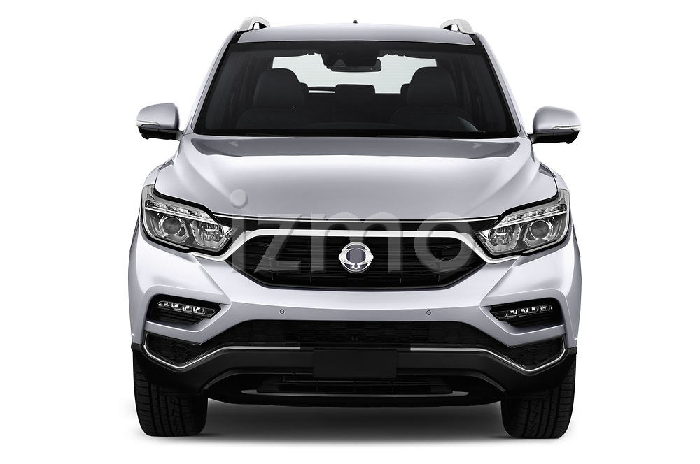 Car photography straight front view of a 2018 Ssangyong Rexton Sapphire 5 Door SUV