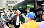 El director Tecnico de la seleccion Colombia llegada para la concentracion del proximo encuentro por las eliminartorias rumbo al mudial Brasil 2014