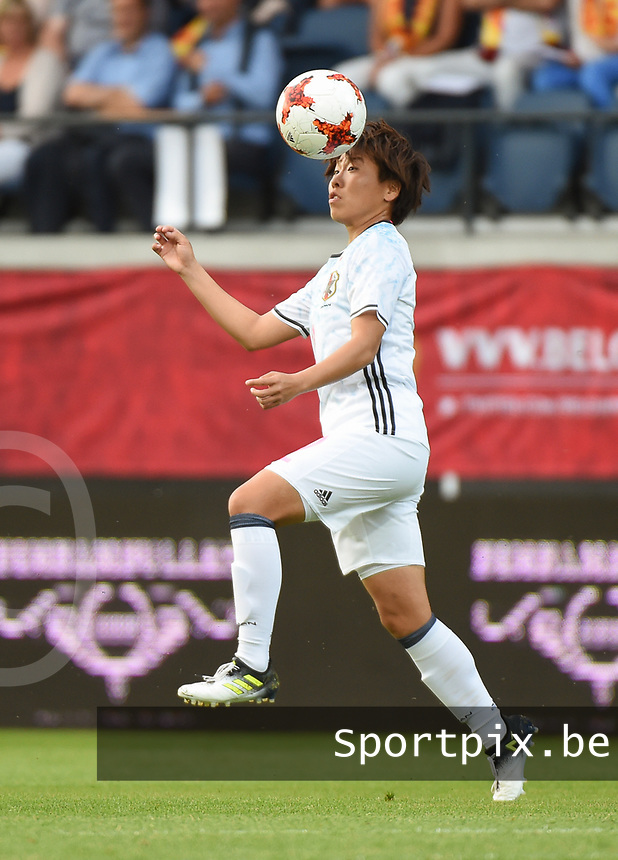20170613 - LEUVEN ,  BELGIUM : Japanese Hikari Takagi pictured during the female soccer game between the Belgian Red Flames and Japan , a friendly game before the European Championship in The Netherlands 2017  , Tuesday 13 th Juin 2017 at Stadion Den Dreef  in Leuven , Belgium. PHOTO SPORTPIX.BE | DIRK VUYLSTEKE