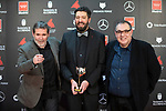 MADRID, SPAIN - JANUARY 16: Director Alberto Rodriguez attends Feroz awards 2020 red carpet at Teatro Auditorio Ciudad de Alcobendas on January 16, 2020 in Madrid, Spain.<br /> (David Jar / Alterphotos)