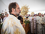 Deacon Dragan Stojanovich from St. Sava Jackson. Patriarchal Divine Liturgy service with His Holiness Irinej to venerate and glorify the relics of St. Mardarije of Libertyville, St. Sava Monastery Church<br /> <br /> #NGMWADiocese<br /> #GlorificationStMardarije, #Chicago, #PatriarchIrinej, #MetropolitanAmphiloije<br /> #SerbianOrthodoxChurch<br /> #www.stsavamonastery.org