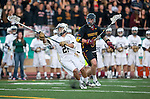 San Diego, CA 05/25/13 - Blake Pinyan (La Costa Canyon #27) and Bennett Shafer (Torrey Pines #8) in action during the 2013 CIF San Diego Section Open DIvision Boys Lacrosse Championship game.  Torrey Pines defeated La Costa Canyon 7-5.