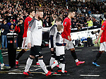 Wayne Rooney of Derby County walks out as captain against his former team during the FA Cup match at the Pride Park Stadium, Derby. Picture date: 5th March 2020. Picture credit should read: Darren Staples/Sportimage