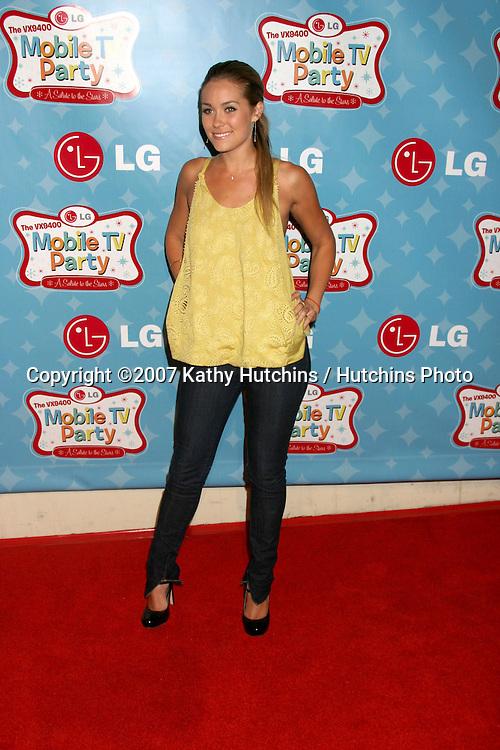 Lauren Conrad.LG's Mobile TV Party.Paramount Studios.Los Angeles, CA.June 19, 2007.©2007 Kathy Hutchins / Hutchins Photo....