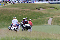 Rafa Cabrera-Bello (ESP) and Talor Gooch (USA) walk off the par3 6th tee during Saturday's Round 3 of the 117th U.S. Open Championship 2017 held at Erin Hills, Erin, Wisconsin, USA. 17th June 2017.<br /> Picture: Eoin Clarke | Golffile<br /> <br /> <br /> All photos usage must carry mandatory copyright credit (&copy; Golffile | Eoin Clarke)