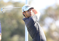 Bryden MacPherson (AUS) on the 10th tee during Round 1 of the ISPS HANDA Perth International at the Lake Karrinyup Country Club on Thursday 23rd October 2014.<br /> Picture:  Thos Caffrey / www.golffile.ie