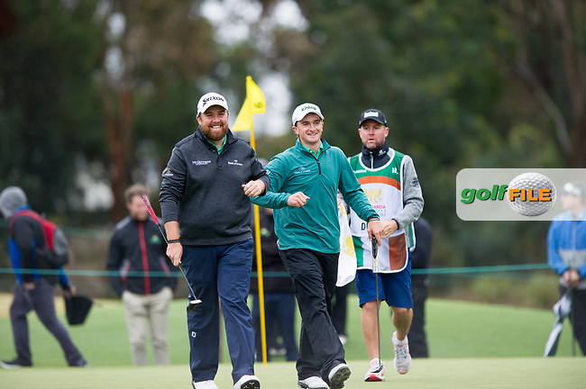 Shane Lowry (IRL)  and Paul Dunne (IRL) during the second day of the World cup of Golf, The Metropolitan Golf Club, The Metropolitan Golf Club, Victoria, Australia. 23/11/2018<br /> Picture: Golffile | Anthony Powter<br /> <br /> <br /> All photo usage must carry mandatory copyright credit (© Golffile | Anthony Powter)