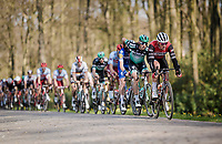 Mads PEDERSEN (DEN/Trek-Segafredo) pulling up front over the cobbled section in the local laps<br /> <br /> 107th Scheldeprijs (1.HC)<br /> One day race from Terneuzen (NED) to Schoten (BEL): 202km<br /> <br /> ©kramon