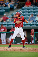 Altoona Curve shortstop Cole Tucker (3) at bat during a game against the Richmond Flying Squirrels on May 15, 2018 at Peoples Natural Gas Field in Altoona, Pennsylvania.  Altoona defeated Richmond 5-1.  (Mike Janes/Four Seam Images)