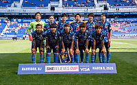 HARRISON, NJ - MARCH 08: Japan poses for their starting XI photo during a game between England and Japan at Red Bull Arena on March 08, 2020 in Harrison, New Jersey.