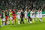 10.08.2019, wohninvest Weserstadion, Bremen, GER, DFB-Pokal, 1. Runde, SV Atlas Delmenhorst vs SV Werder Bremen<br /> <br /> DFB REGULATIONS PROHIBIT ANY USE OF PHOTOGRAPHS AS IMAGE SEQUENCES AND/OR QUASI-VIDEO.<br /> <br /> im Bild / picture shows<br /> <br /> Abschied von  Friedrich Munder (Zeugwart Werder Bremen) - letztes Spiel - geht in den Ruhestand<br /> mit der MAnnschaft vor der Ostkurve<br /> Foto © nordphoto / Kokenge