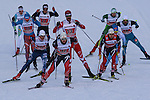 Team sprint of the FIS Cross Country Ski World Cup  in Dobbiaco, Toblach, on January 15, 2017.  Credit: Pierre Teyssot