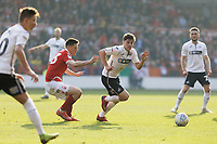 Daniel James of Swansea City (C) \in action during the Sky Bet Championship match between Nottingham Forest and Swansea City at City Ground, Nottingham, England, UK. Saturday 30 March 2019