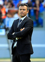 Calcio, Serie A: Roma-Fiorentina. Roma, stadio Olimpico, 25 aprile 2012. L'allenatore della Roma Luis Enrique..AS Roma coach Luis Enrique, of Spain, during the Italian Serie A football match between AS Roma and Fiorentina, at Rome, Olympic stadium, 25 april 2012..UPDATE IMAGES PRESS/Riccardo De Luca