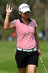CHON BURI, THAILAND - FEBRUARY 20:  Yani Tseng of Taiwan celebrates a birdie on the 1st green during day four of the LPGA Thailand at Siam Country Club on February 20, 2011 in Chon Buri, Thailand. Photo by Victor Fraile / The Power of Sport Images