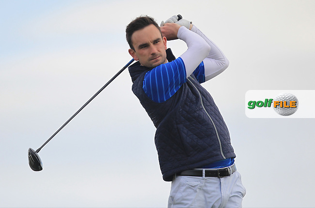 Ian O'Rourke (The Royal Dublin) on the 14th tee during Round 1 of the Flogas Irish Amateur Open Championship at Royal Dublin on Thursday 5th May 2016.<br /> Picture:  Thos Caffrey / www.golffile.ie