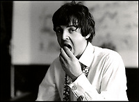 BNPS.co.uk (01202 558833)<br /> Pic: FrankFischbeck/Spink/BNPS<br /> <br /> Paul McCartney at their Munich hotel.<br /> <br /> Unseen photos of the fab four touring Germany in 1966 are being sold showing the group just before they ditched the suits, gave up touring and embraced the flower power revolution.<br /> <br /> The candid snaps were taken by enterprising photographer Frank Fishbeck in Munich and Essen in June 1966 after he had managed to <br /> follow them into their Munich hotel and they invited him to their concert.