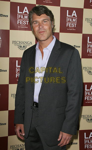 "Todd J. Labarowski.2011 Los Angeles Film Festival Opening Night Premiere of ""Bernie"" held at Regal Cinemas LA Live, Los Angeles, California, USA..June 16th, 2011.half length grey gray suit jacket shirt.CAP/ADM.©AdMedia/Capital Pictures."